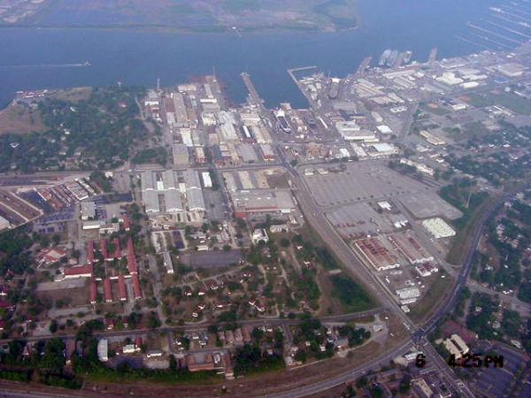 Navy Yard looking east toward Cooper River  2001