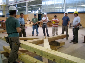 Timber framing class