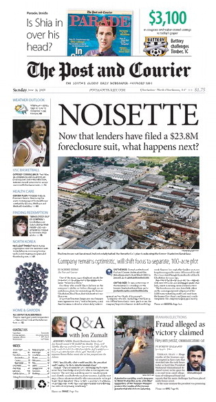 NOISETTE, Front Page above the fold