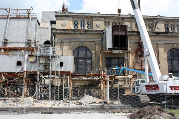 Navy Yard Power House, Demolition in Progress