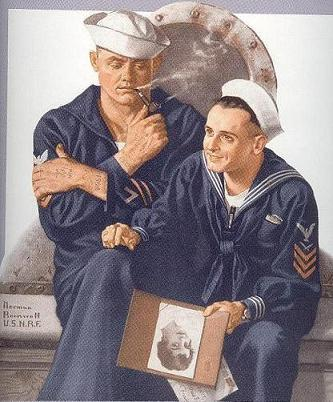 Signed at the lower left Norman Rockwell, U.S.N.R.F.