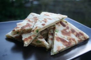 Street food takes many forms.  Vegetable pancake.