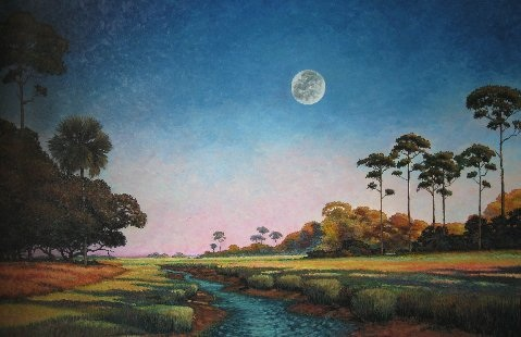 Lowcountry scene by Artist Michael Gray